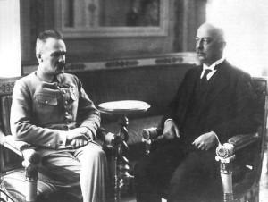 Narutowicz en Piłsudski in 1922