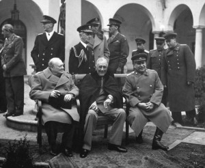 Yalta Conferentie met Churchill, Roosevelt en Stalin